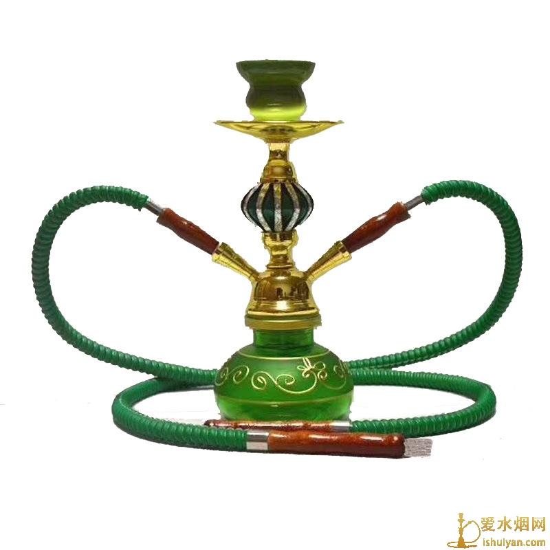 小号双嘴吕球阿拉伯水烟壶27厘米高适合家用