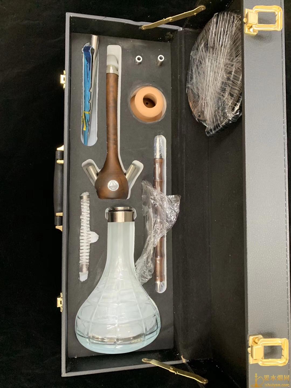 皮箱中号木头阿拉伯水烟壶