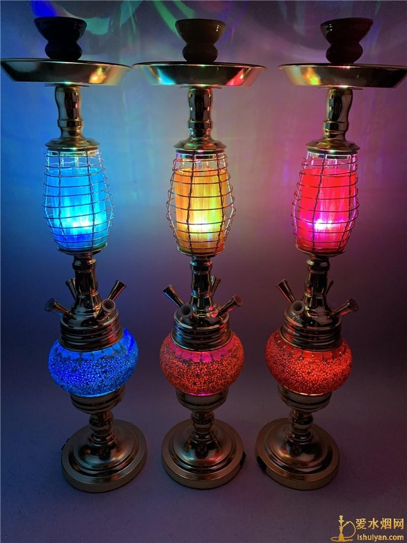 酒吧夜店KTV阿拉伯水烟批发带灯双灯款式现货供应