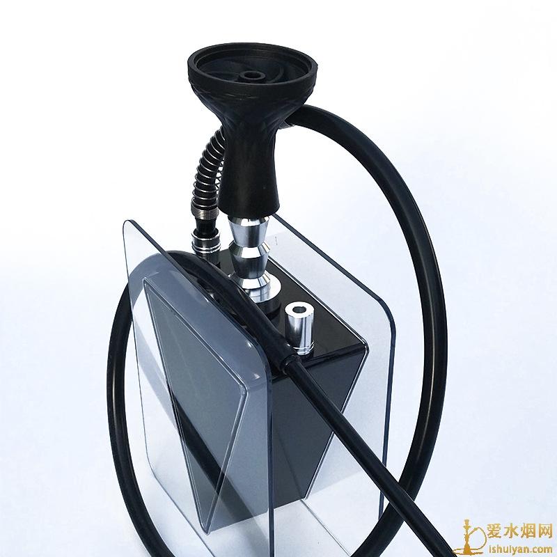 倒三角形亚克力水烟壶单嘴阿拉伯水烟壶